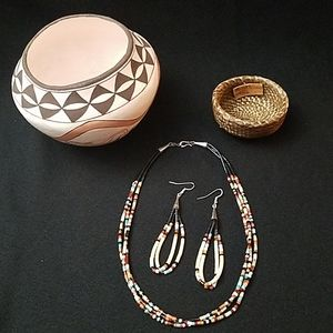 Jewelry - Santo Domingo Multi Stone Necklace/Earrings Set